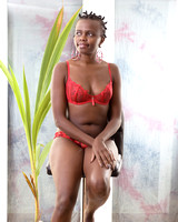 Bantu Princess in Red Lingerie